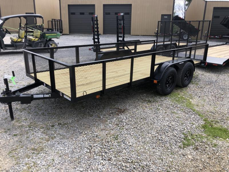 2021 Triple Crown 76x16 tandem axle w/gate and 2' mesh sides Utility Trailer