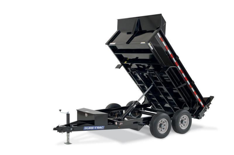 2021 Sure-Trac 6X12 5TON Low Profile Dump w/Ramps & TARP Dump Trailer