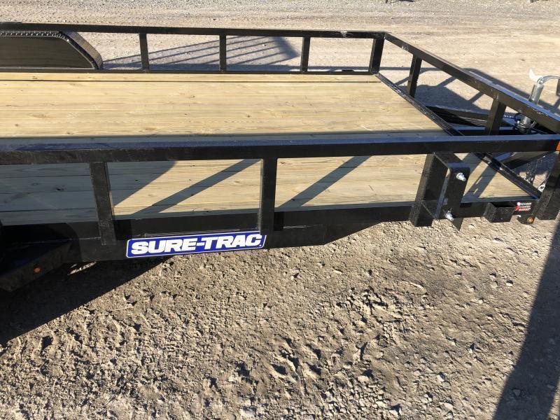 2021 Sure-Trac 81x16 Tube Top w/gate Utility Trailer