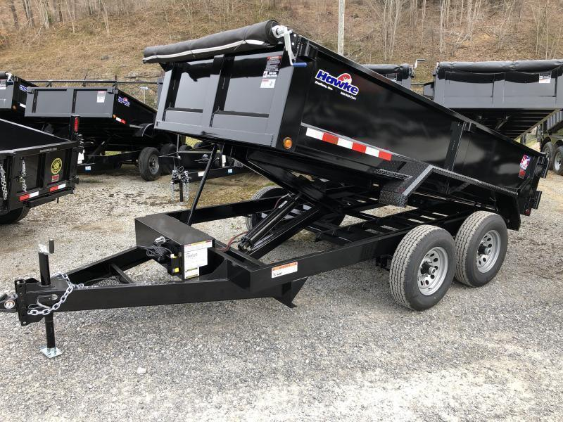 2021 Hawke Trailers 6X12 5TON Low Profile WITH TARP AND RAMPS Dump Trailer