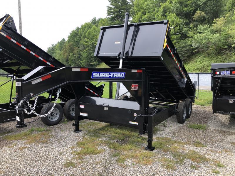 2021 Sure-Trac 82X16 Gooseneck Dump Telescopic Lift Dump Trailer