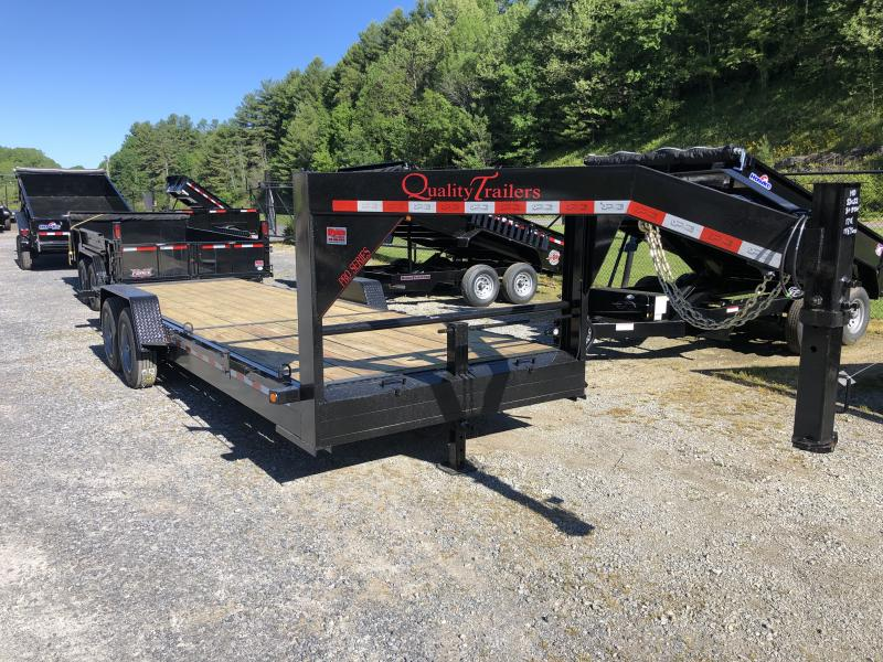 2021 Quality Trailers 82x22 17K Tilt 18Ply Tires Gooseneck Equipment Trailer
