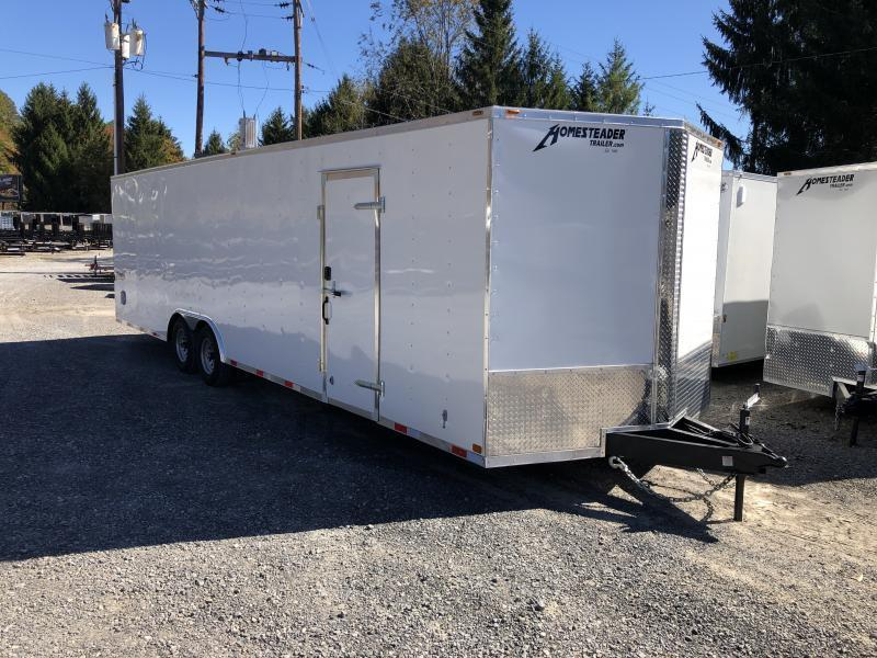2021 Homesteader 8.5x28 Intrepid V-Nose 5 ton car hauler Enclosed Cargo Trailer