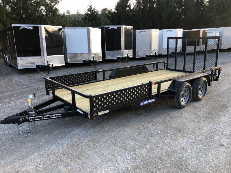 2021 Sure-Trac 82x16 Side Load ATV Ramps Tube Top w/gate Utility Trailer