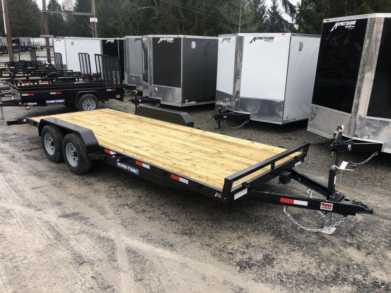 2020 Sure-Trac 82x20 5Ton Wood Floor Left Removable Fender Car / Racing Trailer