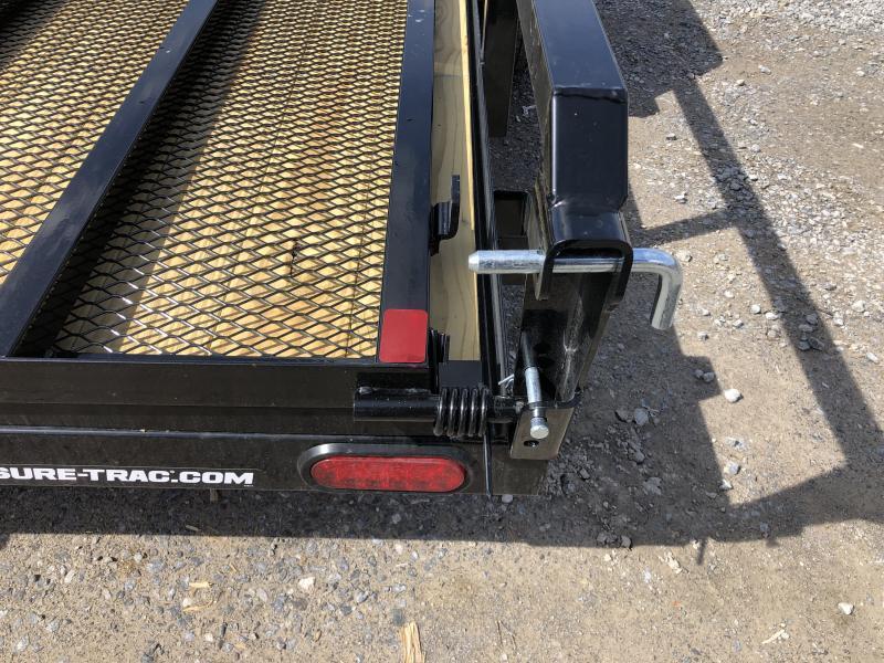 2021 Sure-Trac 82x14 Single Axle Tube Top  Utility Trailer