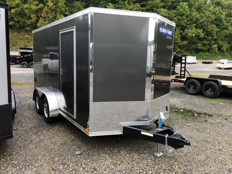 2021 Sure-Trac 7X14 Pro V-nose sd ramp 6ft 6in tall Enclosed Cargo Trailer