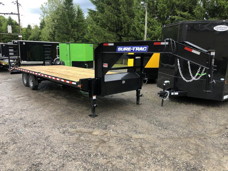 2021 Sure-Trac 24ft 20+4 Goosenck SD 15K Equipment Trailer