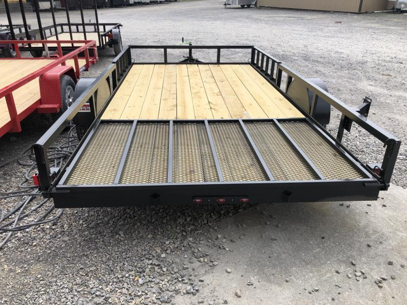 2021 Triple Crown 82x14 single axle side load ramps w/gate Utility Trailer