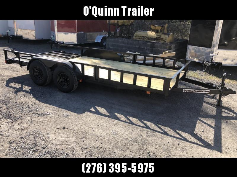 2022 Triple Crown 82x16 tandem axle side load ramps w/gate Utility Trailer