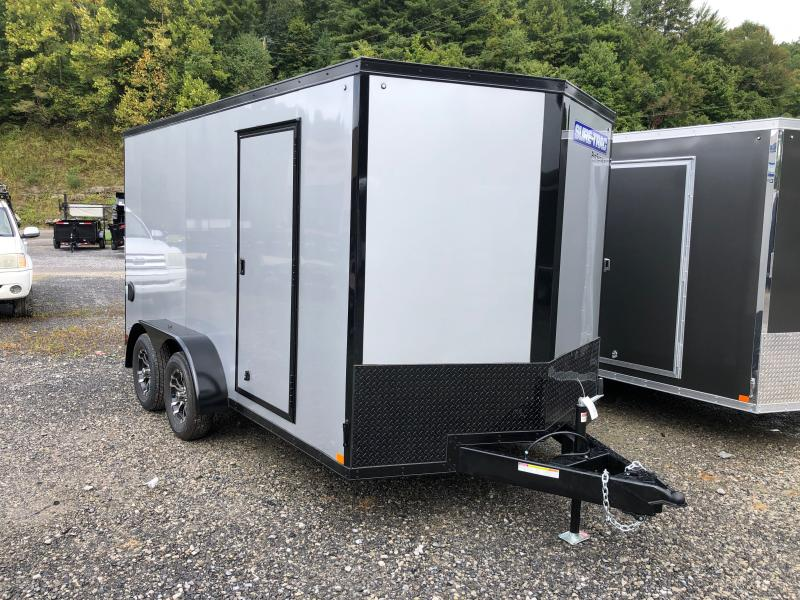 2021 Sure-Trac 7X14 Pro V-nose sd ramp 6ft 6in tall blackout Enclosed Cargo Trailer
