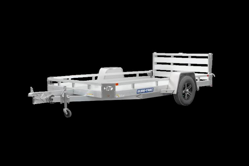 82X14 Sure Trac Single Axle All Aluminum Utility Trailer