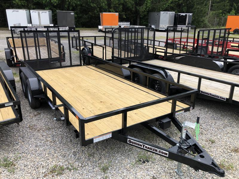 2021 Sure-Trac 82x16 Dovetail Tube Top w/gate Utility Trailer