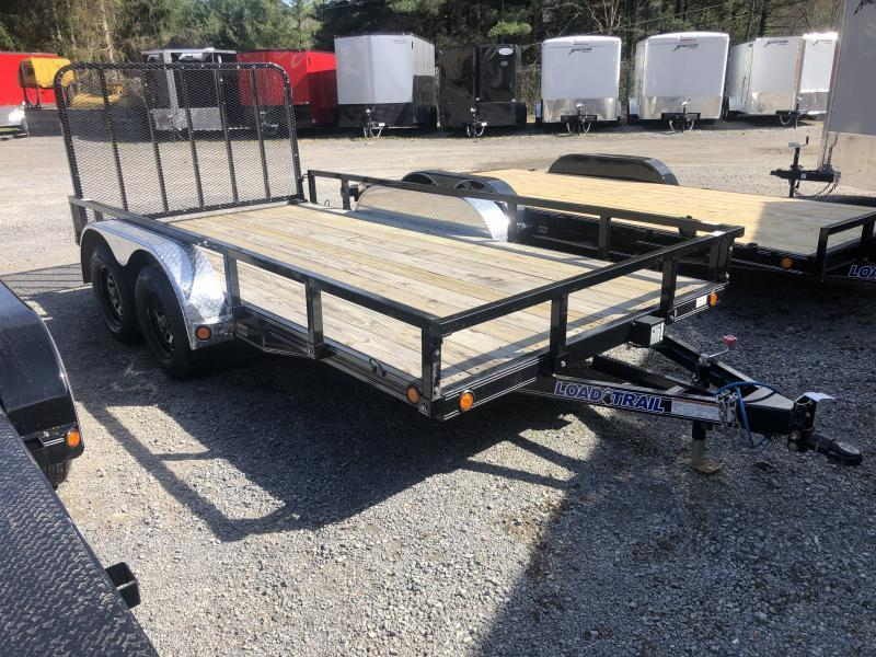 2020 Load Trail CHANNEL 83X14 XT REMOVABLE RAILS ALUM TREADPLATE FENDERS Utility Trailer