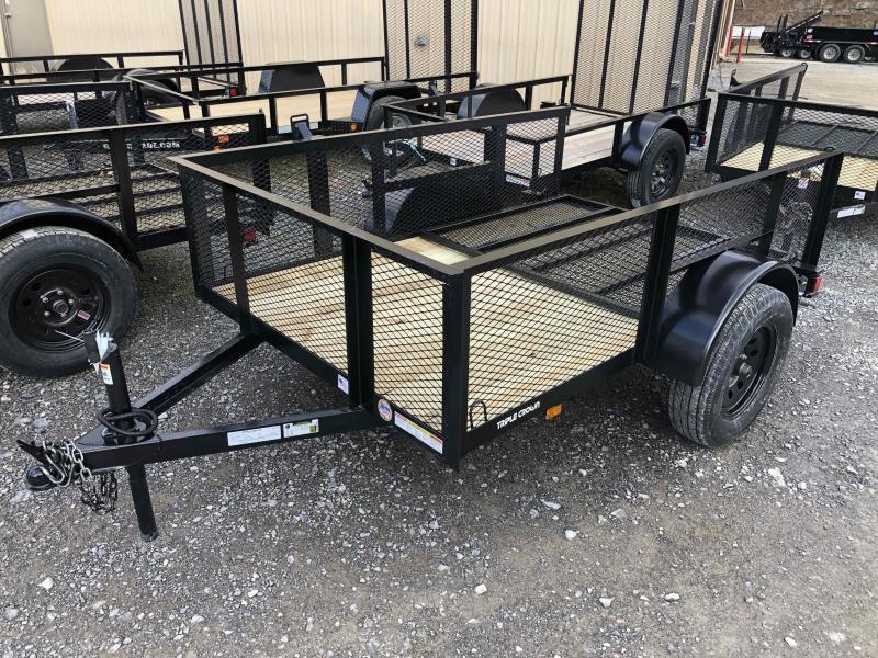 2021 Triple Crown 5x8 2' Mesh Sides single axle w/gate Utility Trailer