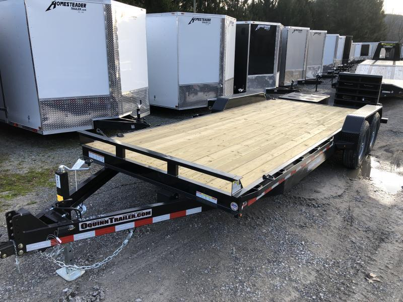 2022 Sure-Trac 82x20 7Ton w/Full Width Bed Leveling Ramps Equipment Trailer
