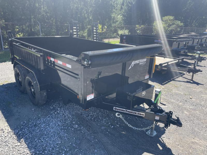 2021 Homesteader 7X12 6TON LO-PRO W/TARP AND RAMPS Dump Trailer