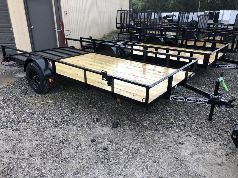 2020 Triple Crown 76x14 single axle w/gate Utility Trailer