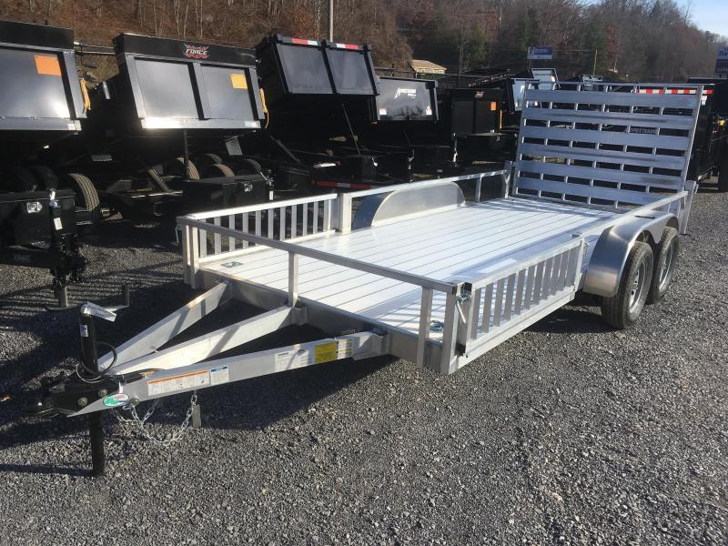 2022 Forest River 78x16 all aluminum w/side ramps Utility Trailer