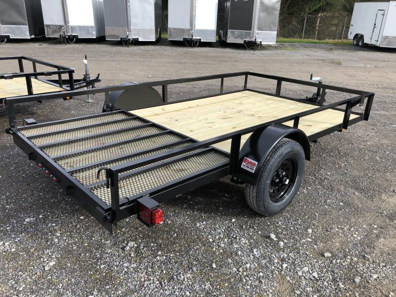 2021 Triple Crown 76x12 single axle w/gate Utility Trailer