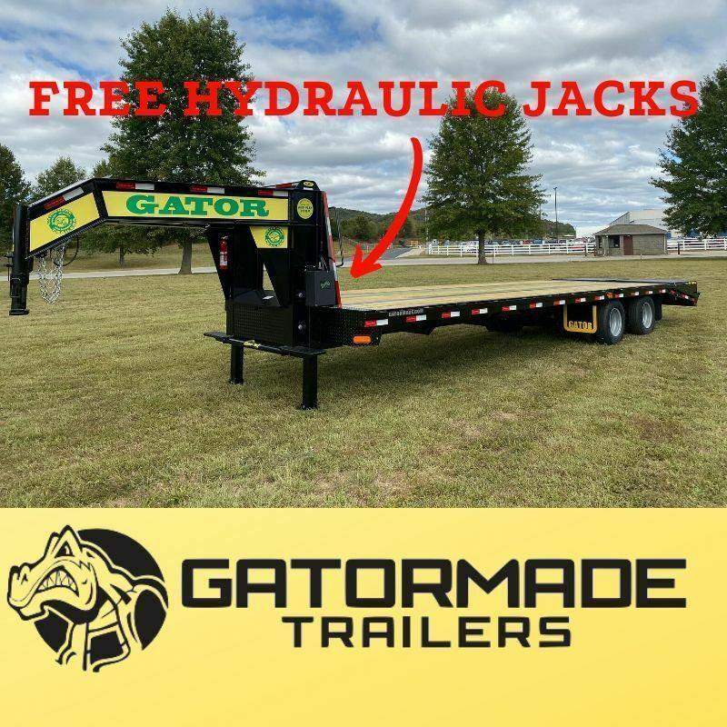 2020 Gatormade Trailers 25 tandem dual ELITE SERIES gooseneck Equipment Trailer