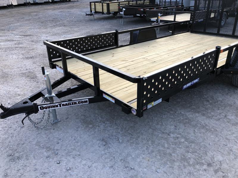 2021 Sure-Trac 82x14 ATV Side Load Ramps Single Axle Utility Trailer