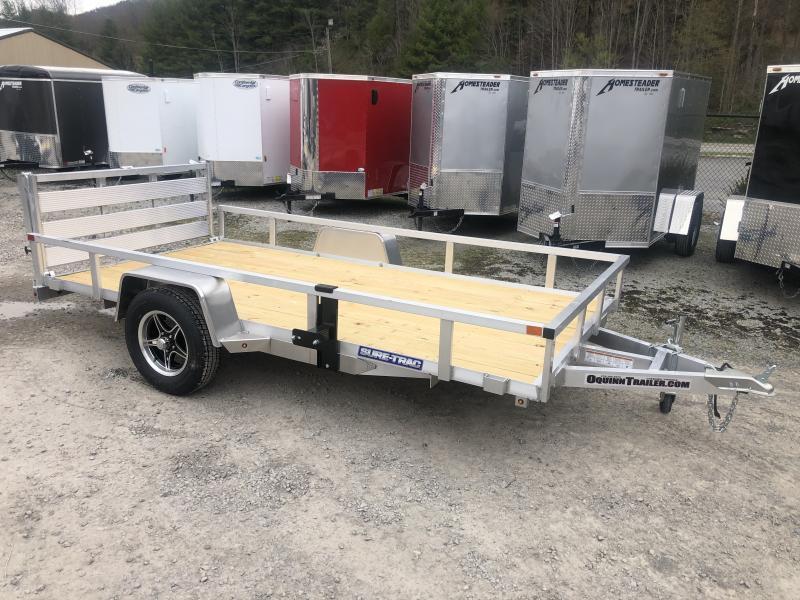 6X12 Sure Trac Single Axle Aluminum w/wood floor Utility Trailer