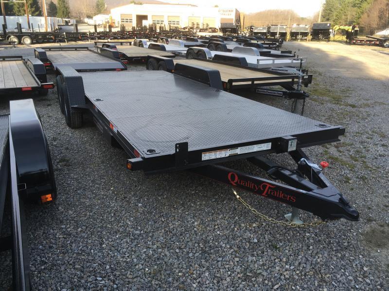 2021 Quality Trailers 82x20 5ton steel floor car hauler left removable fender 4brk Car / Racing Trailer