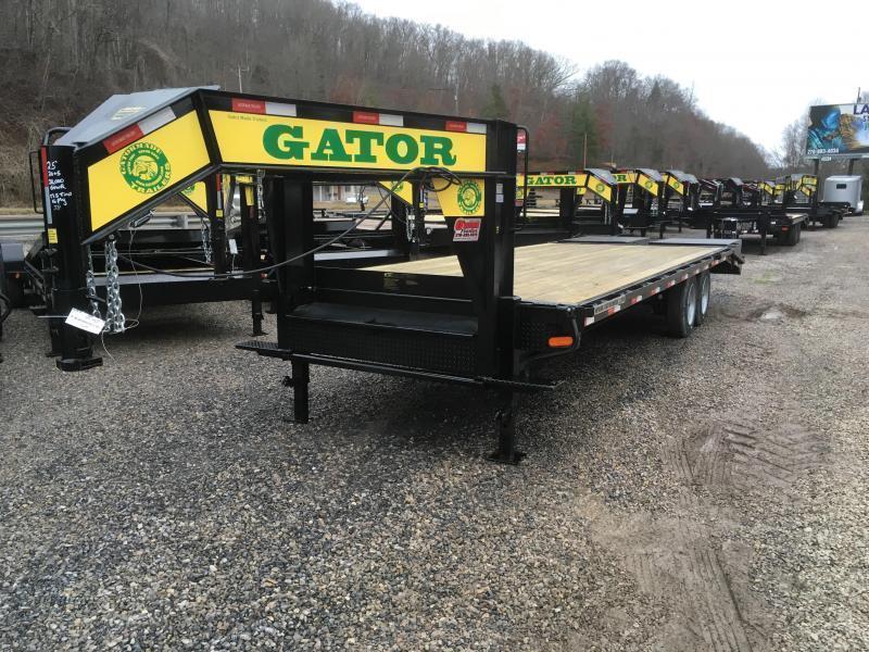 2021 Gatormade Trailers 25ft 20K 17.5 tires Gooseneck big goliath ramps Equipment Trailer