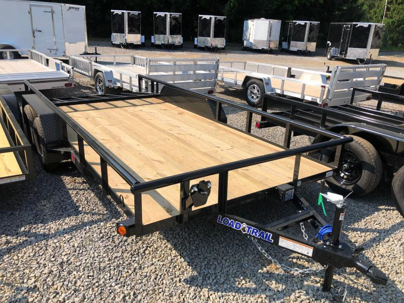 2021 Load Trail 83X16 Dovetail W/Gate PIPE TOP Utility Trailer