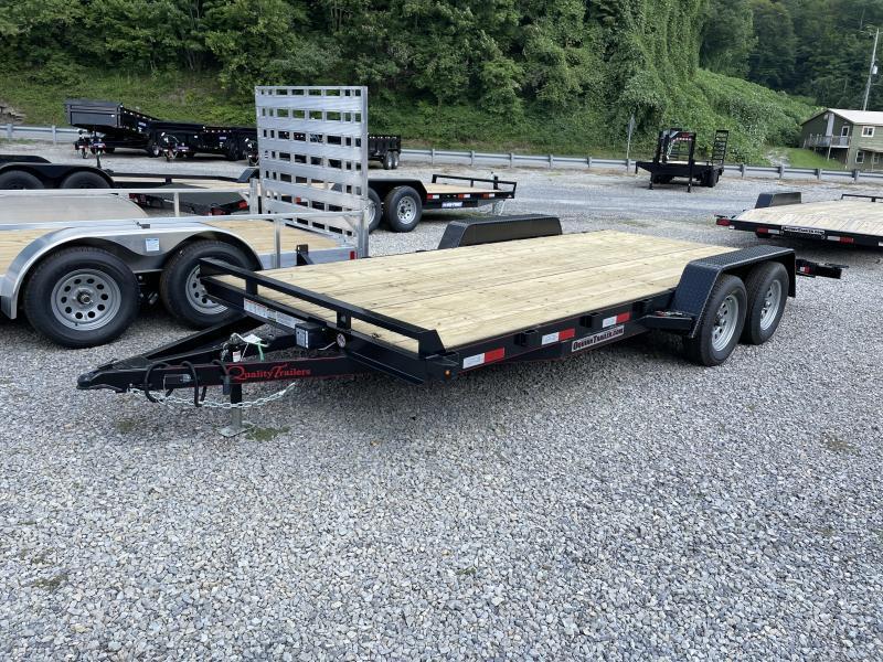 2022 Quality Trailers 82x18 bumper pull wood car hauler LEFT REMOVABLE FENDER Trailer