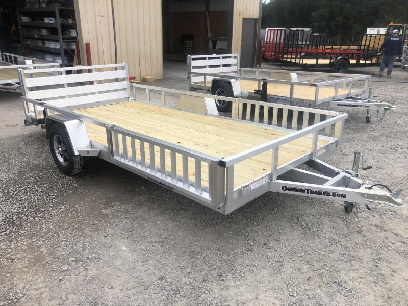 82x14 Single Axle Aluminum w/wood floor and side ramps Utility Trailer