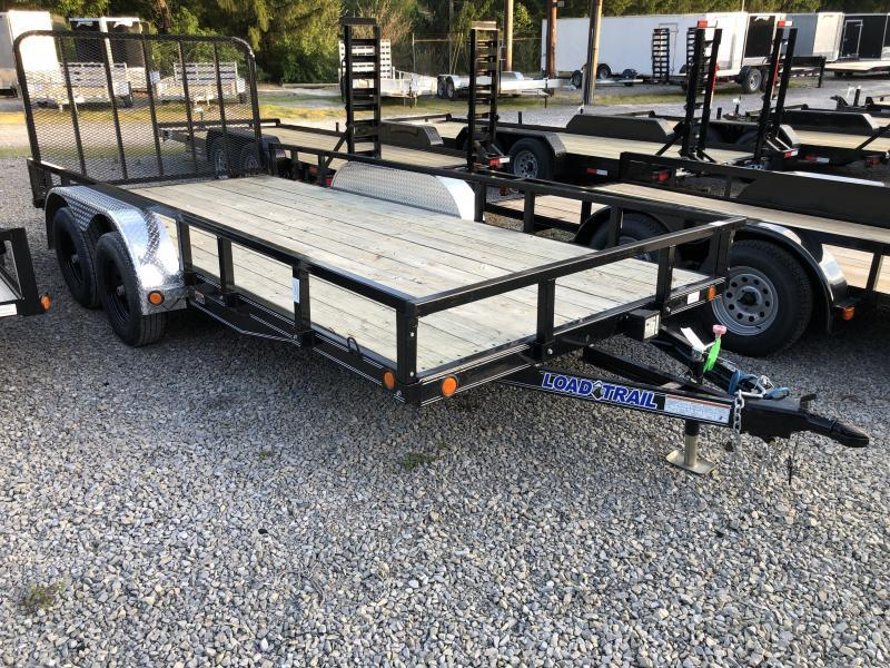 2020 Load Trail CHANNEL 83X16 XT REMOVABLE RAILS ALUM TREADPLATE FENDERS Utility Trailer