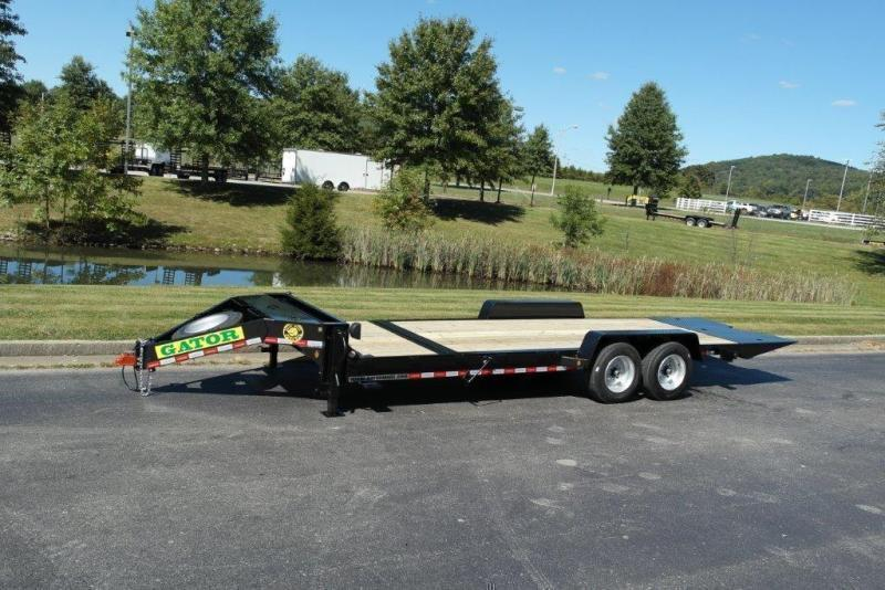 2021 Gatormade Trailers 17600GVWR Aardvark Tilt 24ft 4+20 Equipment Trailer