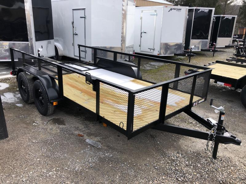 2021 Triple Crown 76x14 tandem axle w/gate and 2' mesh sides Utility Trailer