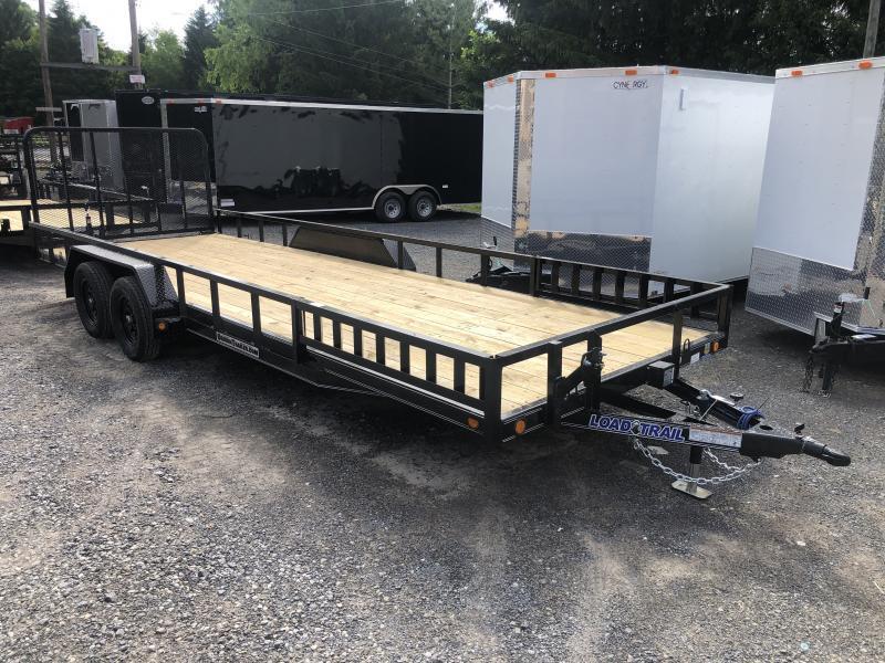 2021 Load Trail 83X22 Side Load Ramps w/Rear Gate Channel Frame Utility Trailer