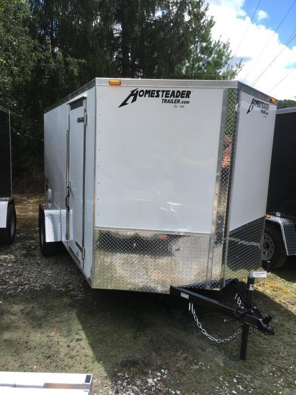 2021 Homesteader 7x12 Intrepid single axle sd ramp door Enclosed Cargo Trailer