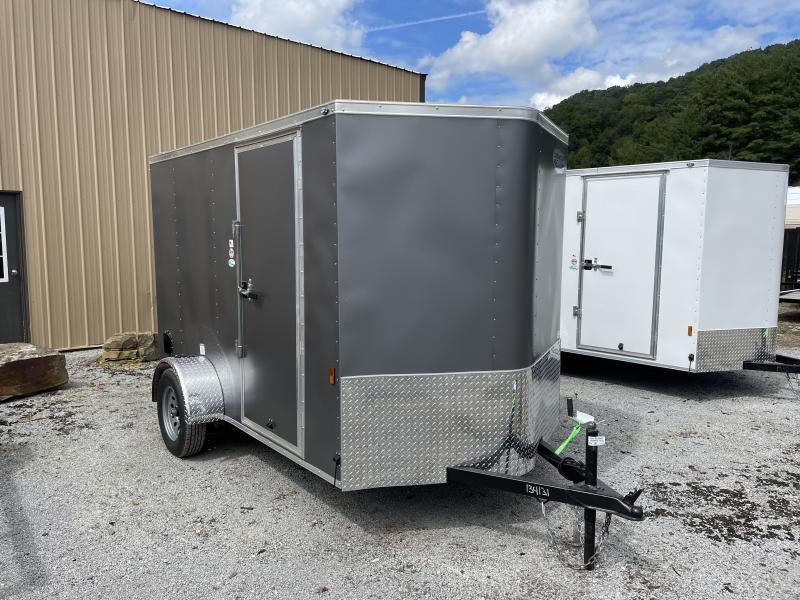 2022 Continental Cargo 6x10 V-Nose Side Door Ramp Door Enclosed Cargo Trailer