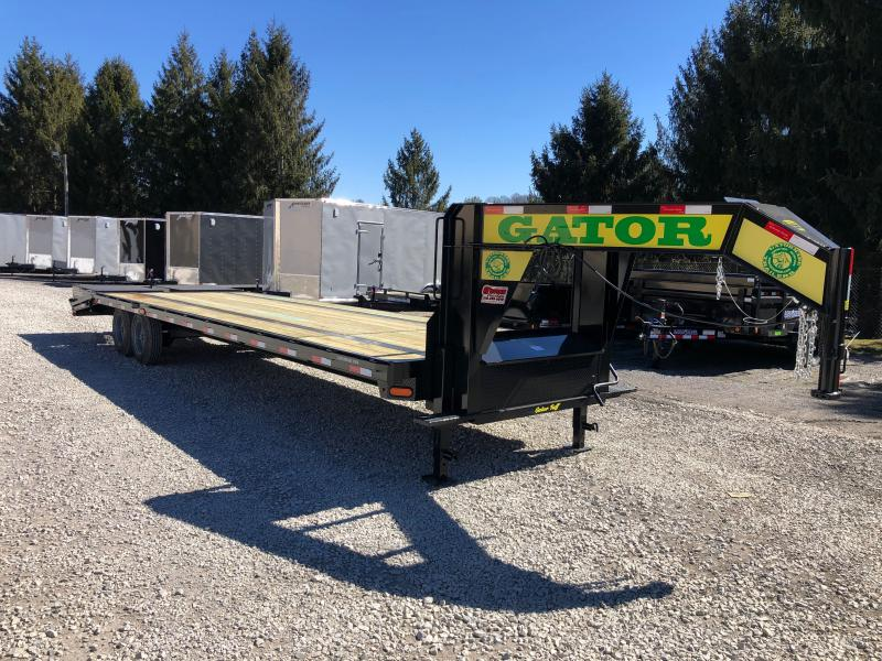 2021 Gatormade Trailers 30ft 20K 17.5 tires Gooseneck big goliath ramps Equipment Trailer