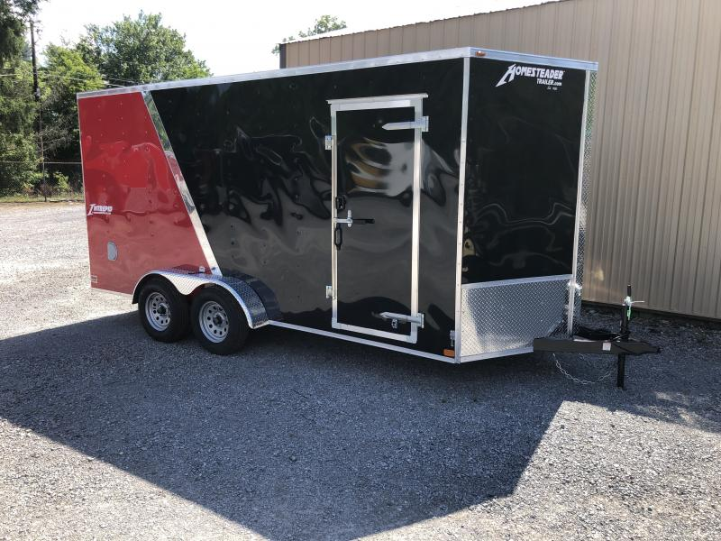 2021 Homesteader 7x16 Intrepid 2 tone 1ft extra height Enclosed Cargo Trailer