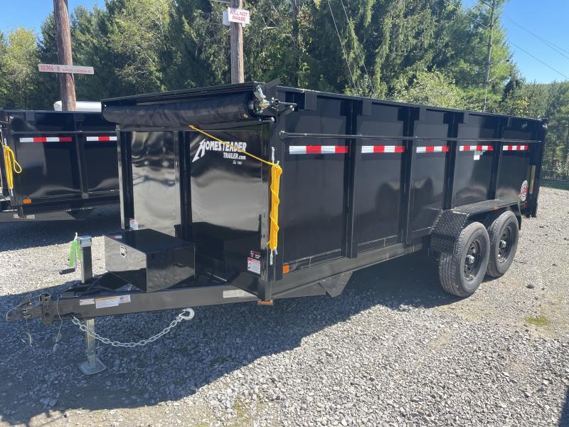 2021 Homesteader 7X16JX 7TON 44in sides SCISSOR LO-PRO W/TARP Dump Trailer