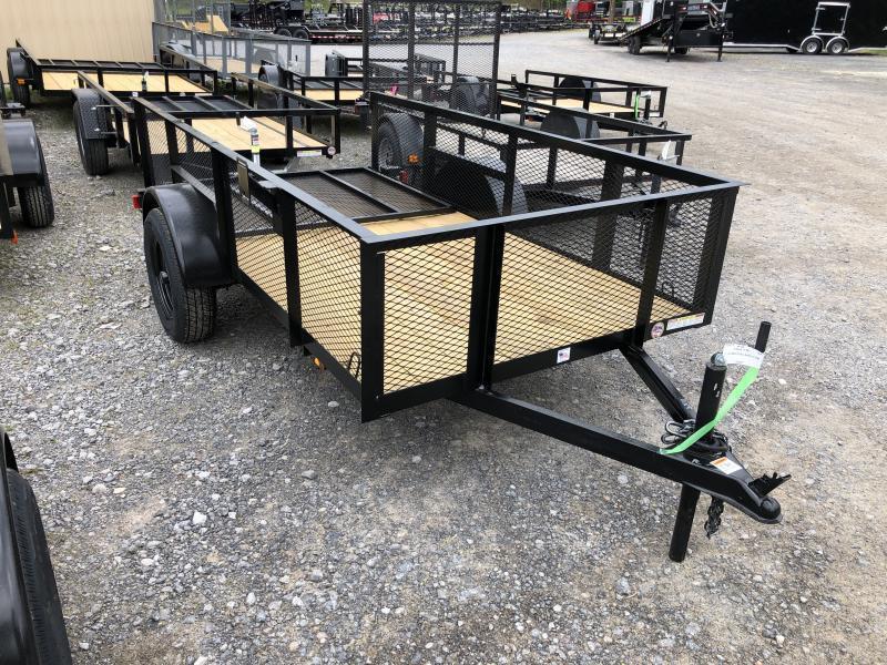 2021 Triple Crown 5x10 2' Mesh Sides single axle w/gate Utility Trailer