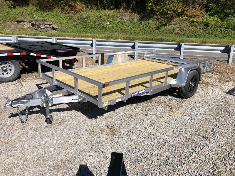 82X14 Sure Trac Single Axle Aluminum w/wood floor Utility Trailer