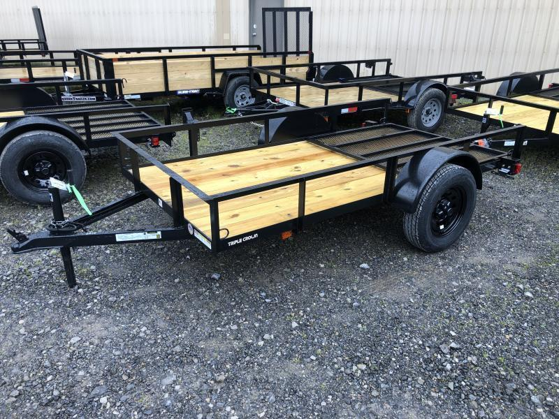 2021 Triple Crown 5x10 single axle w/gate Utility Trailer
