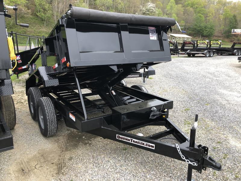 2021 Hawke Trailers 6X10 5TON Low Profile WITH TARP AND RAMPS Dump Trailer