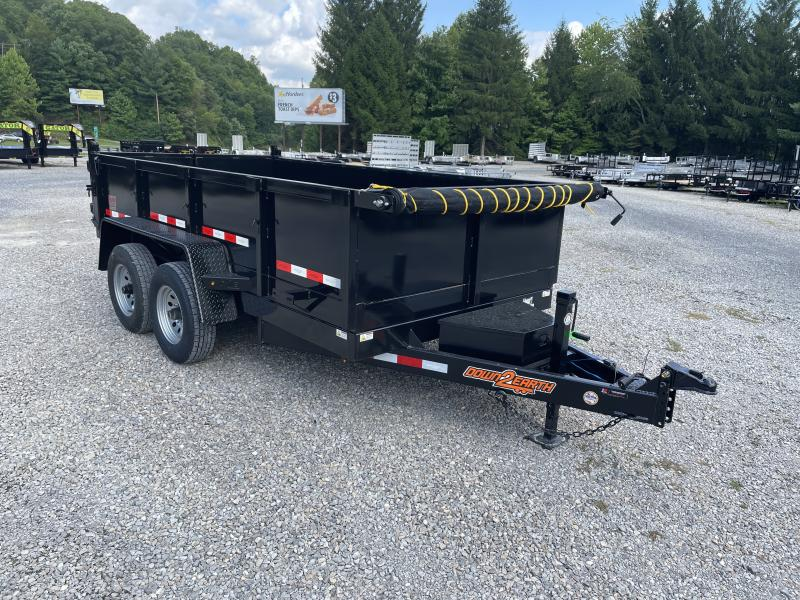2021 Down 2 Earth Trailers 6X12 5TON Low Profile WITH TARP AND RAMPS Dump Trailer