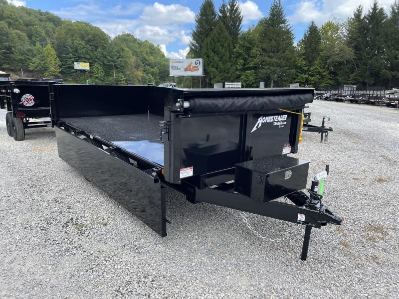 2022 Homesteader 6x12 5 ton drop down curb side W/TARP dump Dump Trailer