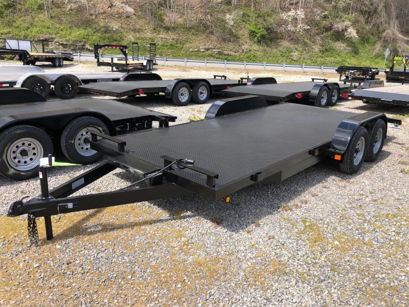 2021 Other 82x18 steel car hauler winch plate left removable fender Car / Racing Trailer