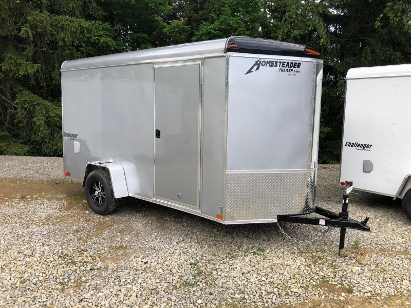 2021 Homesteader Inc. 6x12 Challenger Vnose 6ft6in Ramp single axle Enclosed Cargo Trailer