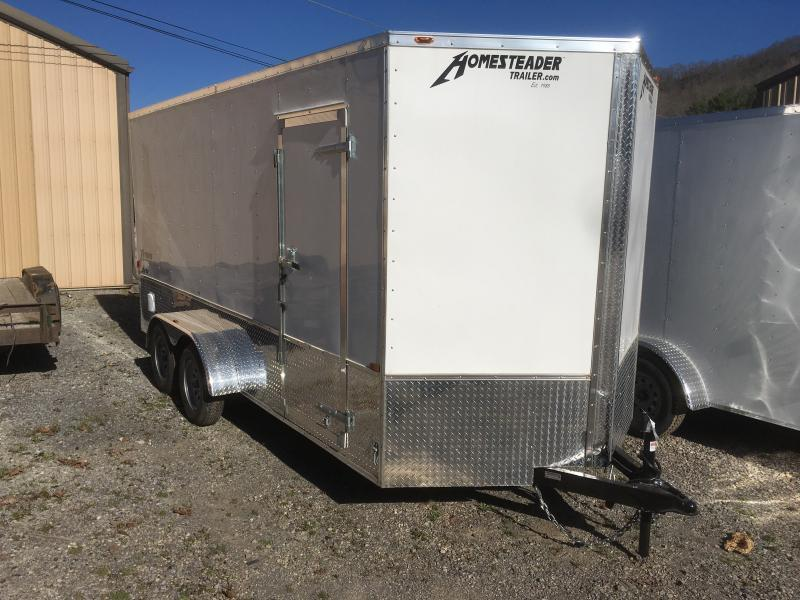 2020 Homesteader 7x16 Intrepid OHV pkg 1ft extra height sd ramp Enclosed Cargo Trailer